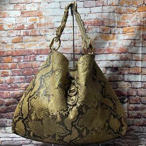 GUCCI Sabrina Python Skin Large Hobo Handbag 506631
