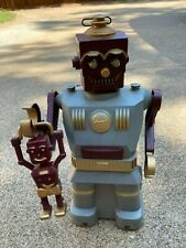 Vintage 1950s Marx Robot and Son Battery Original Box and Son/Tools