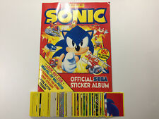 1994 Panini UK: Sonic Complete Sticker Set & Empty Album - Sega