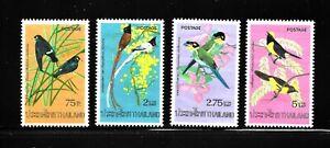 HICK GIRL-BEAUTIFUL M.N.H. THAILAND  SC#727-30  BIRDS  ISSUE 1975      X1670