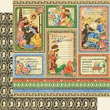 Graphic 45 Little Women Collection 12 x 12 Something Splendid Love Cardstock