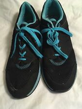 Vionic Women's Athletic Shoes Sneakers Black and Light Blue Size 11