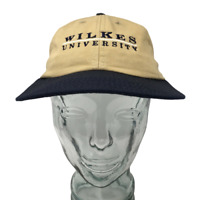 Wilkes University Baseball Cap Cotton Beige OSFM Strap Back University Square
