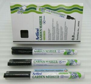 3 x BLACK Artline 780 Garden Marker 0.8mm Bullet Nib 178001 in stock tracked