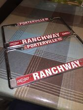 Ranchway Chevrolet Cadillac Geo Oldsmobile Porterville, Ca License Plate Frame