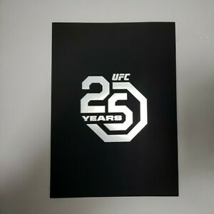 Ufc 25th Anniversary Event Exclusive Commerorative Program Limited Edition