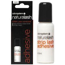 Salon System Clear Shade False Eyelashes & Adhesives