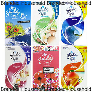 12 x GLADE ONE TOUCH PRESS AIR FRESHENER REFILL CHOOSE SCENT FRAGRANCE 10ML