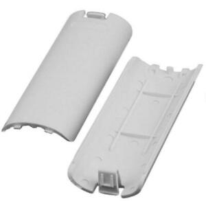 White Replacement Battery Back Cover For Nintendo Wii Remote Controller   FPC
