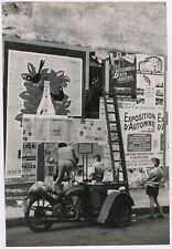 Vintage Alfred Statler Mid-Century Large Format Photograph Paris Street Scene