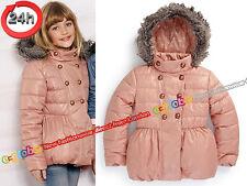 NEXT Jacke Mantel mit Kapuze für Mädchen Größe 3-4 Jahre 104cm