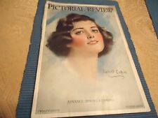 Vtg 3/29 Pictorial Review Magazine Super Ads Fashions Authors Haskell Coffin