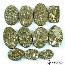550 Carats AAA+ Natural Pyrite Druzy Untreated Beautiful Gemstones Lot~18mm-29mm