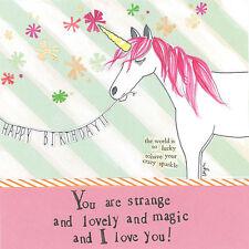 """Curly Girl Design"" Greeting Card - Unicorn - #CG-C-SQRH64"