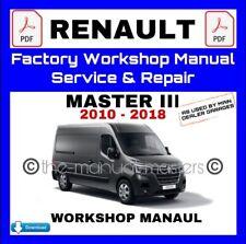 Renault Master III 2010 - 2018 PDF Workshop Service & Repair Manual