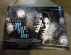 "No Time To Die ORIGINAL UK D/S quad poster Daniel Craig James Bond 007 ""car"""