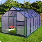Gewächshaus Inkl. Fundament Garten Pflanzenhaus Alu Treibhaus Tomatenhaus - 6mm