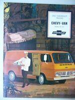 NOS Original 1967 Chevrolet Trucks Chevy-Van Series 10-20 Sales Brochure 67