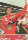 2018 Arie Luyendyk signed Budweiser Indy 500 Legend Indy Car blankback postcard