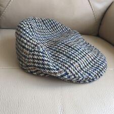 British Burton noir vert Carreaux Laine Polyester Homme Chapeau Bonnet