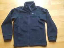 Columbia Black Fleece Zip Front Jacket Boys Girls Unisex Size Small 6 7