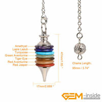 Prayer Whell Natural Stone Dowsing Chakra Pendulum for Divination Reiki Pendant