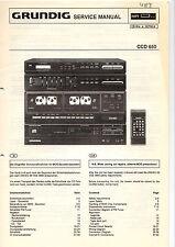 Grundig Service Anleitung Manual CCD 650 Schaltplan Tipps Werkstatt  B300