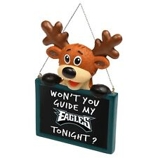 Philadelphia Eagles Reindeer with Sign Resin Holiday Christmas Tree Ornament  New 4ce64ca71