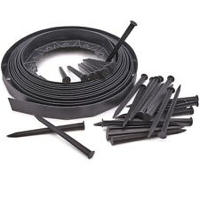 More details for flexible garden edging lawn grass border edge 10m + 30 strong securing pegs