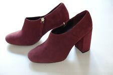 Clarks Burgundy Suede ladies heels/shoes size 5/38 D