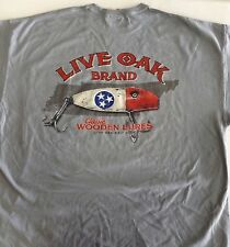 "LIVE OAK BRAND T-SHIRT COMFORT COLOR ""TENNESSEE FISHING LURE FLAG"" MEDIUM"