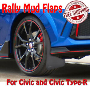 4x For Honda Civic Type R Mud Flaps Mudflaps Mudguards Splash Guards