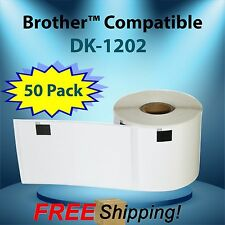 DK-1202 Compatible w/ QL Brother™ P-Touch Labels Printers 50 Rolls Adhesive