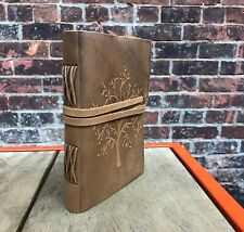 "Leather Journal Tree of Life Handmade Sketchbook Notebook Leather Bound 7""x5"""