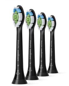 4X Philips Sonicare HX6064/65 DiamondClean Toothbrush, 4 Heads, Black Colour