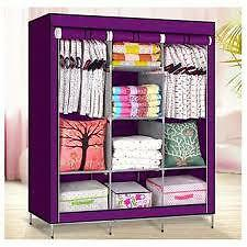FOLDING WARDROBE STORAGE ALMIRAH A- 3 YEZ SHOPPY GOOD QUALITY NON WOVEN FABRIC