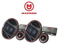 MACROM M2S.62 KIT 2 VIE SEPARATE WOOFER 165mm TWEETER CROSSOVER 220W AUTO CAMION