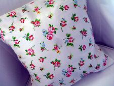 "Shabby Chic Clarke & Clarke Rosebud Chintz Cotton Fabric Cushion Cover 16""x16"""