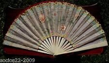 Fan Eventail Beautiful,Important Sticks And Organdy Hand Fan