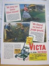 Victa ROTOMO (1950's) Metal Reprodution Sign 869