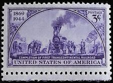 1944 3c First Transcontinental Railroad, 75th Anniversary Scott 922 Mint F/VF NH