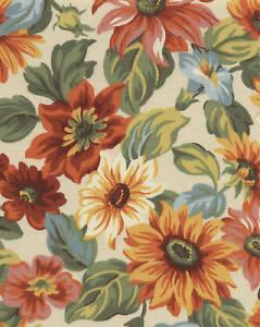 Longaberger Oval Serving Tray Sunflower Floral Liner