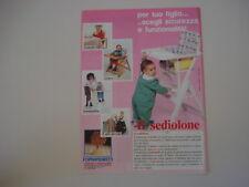 advertising Pubblicità 1989 SEDIOLONE FOPPAPEDRETTI