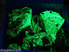 BOX OF FLUORESCENT OPALIZED VOLCANIC FLOW ROCK WITH URANIUM SALTS 17 Pounds