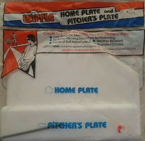 Vintage Official Wiffle Ball  Home Plate & Pitcher's Rubber Set (NOS) Kmart