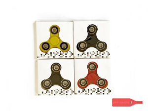 LOT OF FOUR 4 BASIC FIDGET SPINNERS ASSORTED COLORS CHEAP