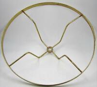 "Vintage Brass 10"" Fitter Under Socket Shade Holder Ring 3/8"" Center Hole"