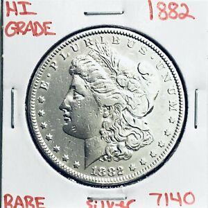 1882 MORGAN SILVER DOLLAR HI GRADE GENUINE U.S. MINT RARE COIN 7140