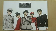 SHINEE Official POSTER EVERYBODY 5th Album Tube Case Unfolded 샤이니