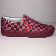 Vans Women 8 Classic Slip On Translucent Rubber Hibiscus Sneaker New VN0A38F7QEE